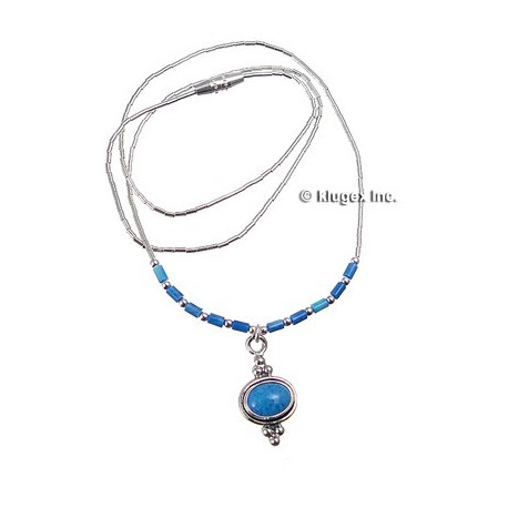 Liquid Silver Necklace W Lapis Jewelry Farm