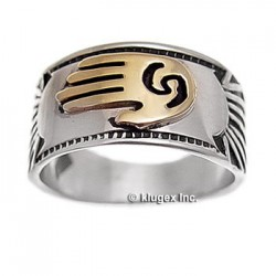 Sterling Silver & 14k Gold Ring Size 8