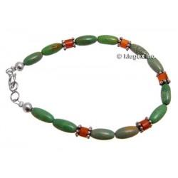 Southwest Turquoise & Coral Bracelet