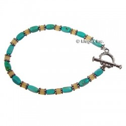 Southwest Sterling Silver Turquoise Bracelet