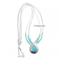 Southwestern Liquid Silver Turquoise Necklace