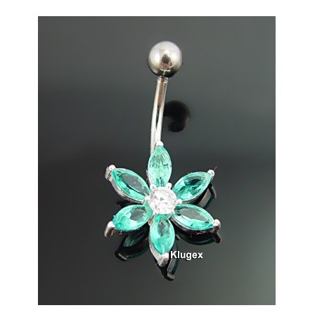 Sterling Silver Belly Piercing Flower
