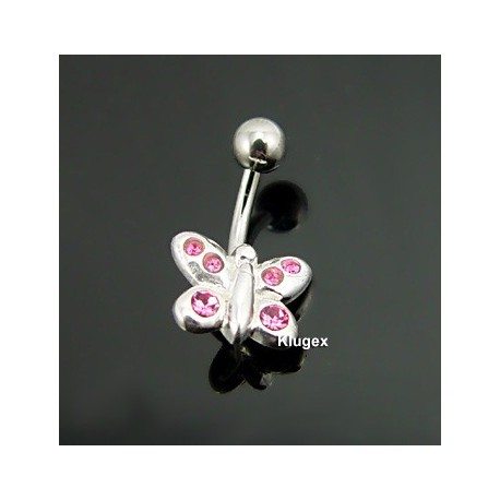 Sterling Silver Belly Piercing Butterfly