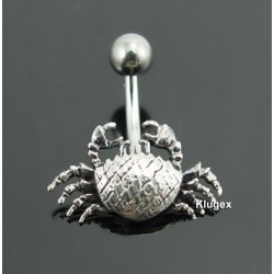 Sterling Silver Belly Piercing Cancer