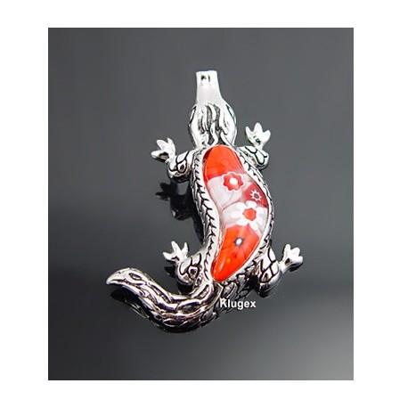 Murano Millacreli Sterling Silver Crocodile Pendant