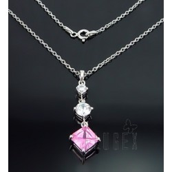 Sterling Silver Necklace with CZ