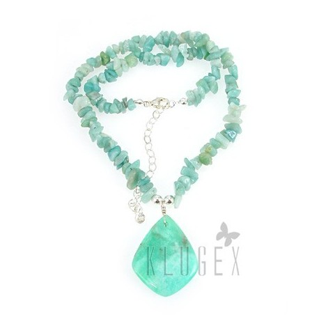 Amazonite Necklace w Sterling Silver
