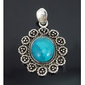 Sterling Silver Pendant with Turquoise