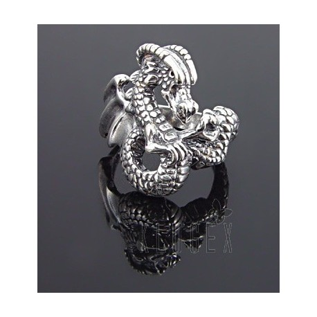 Sterling Silver Ring w Dragon Size 10