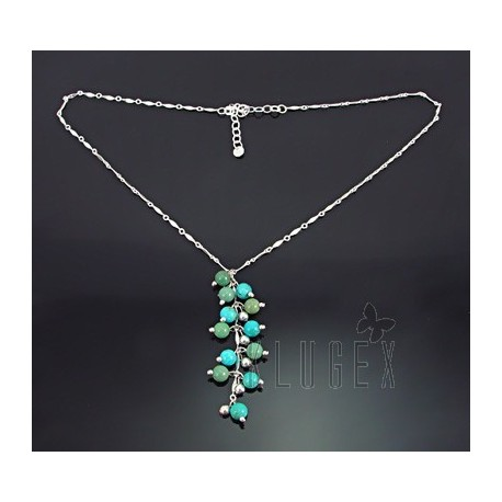Southwestern Sterling Silver & Turquoise Necklace