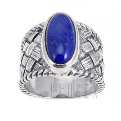 Sterling Silver Ring w Lapis Size 7