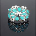 Native American Sterling Silver Ring w Turquoise Size 6