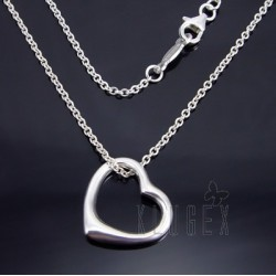 Sterling Silver Heart Pendant w Chain