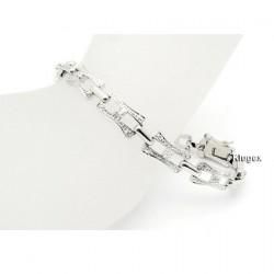 Sterling Silver Bracelet w CZ