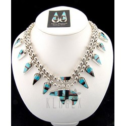 Native American Necklace & Earrings Set