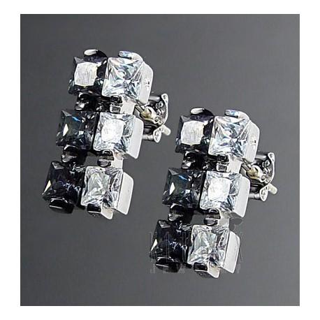 Sterling Silver Earrings w CZ