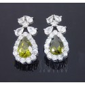 Sterling Silver Earrings w CZ