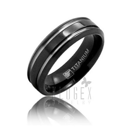Black Titanium Wedding Band Ring Size 10