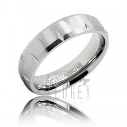 Titanium Wedding Band Ring Size 7