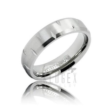 Titanium Wedding Band Ring Size 7