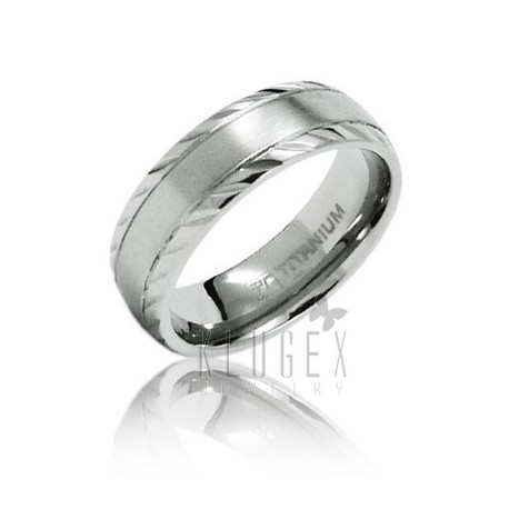 Titanium Wedding Band Ring Size 8