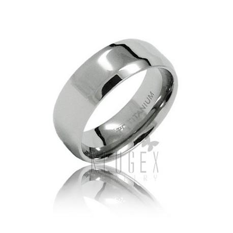 Titanium Wedding Band Ring Size 8