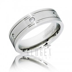 Frontier Titanium Wedding Band Ring
