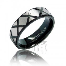Black Titanium Band Ring
