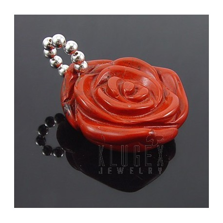 Sterling Silver Aventurine Rose Pendant