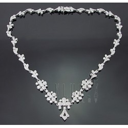 Sterling Silver Necklace w Cubic Zirconia