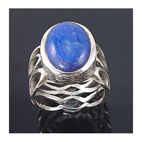 Sterling Silver Ring w Lapis Size 5.5