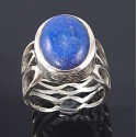Sterling Silver Ring with Lapis