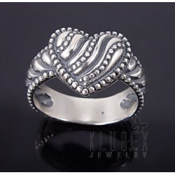 Sterling Silver Ring w Heart Size 8