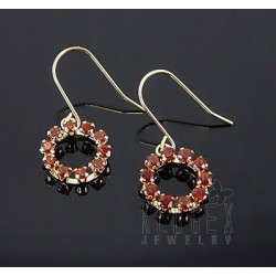 10K Gold Earrings w Garnet