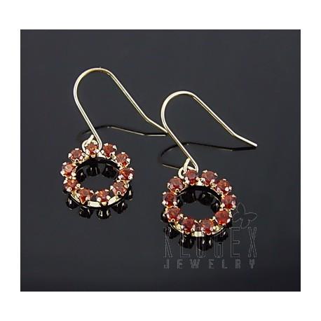10K Gold Earrings w Garnet