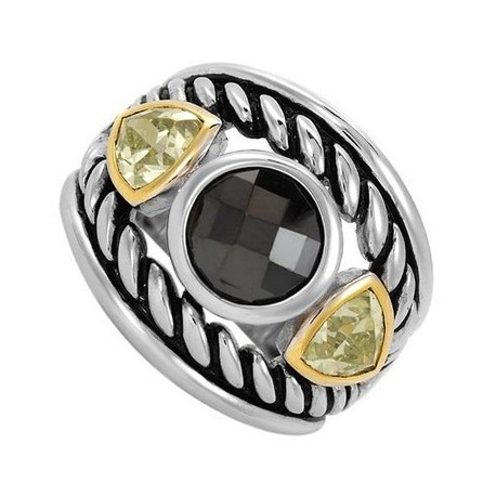 Sterling Silver Ring w Cubic Zirconia Size 7