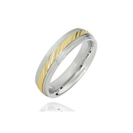 Stainless Steel Wedding Band Ring Size 6