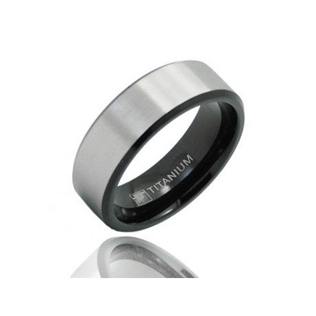 Black Titanium Wedding Band Ring Size 10