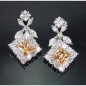 Sterling Silver Earrings w Cubic Zirconia