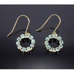 10K Gold Earrings with Blue Topaz