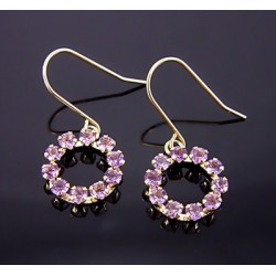 10K Gold Earrings with Amethyst