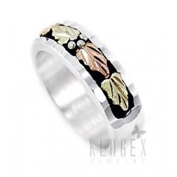 Black Hills Sterling & 12K Gold Wedding Ring
