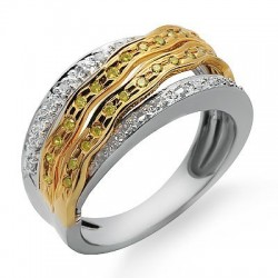 14K Gold Ring with Diamond Size 7