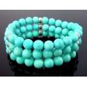Southwestern Turquoise & Sterling Starch Bracelet