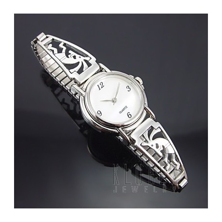 Southwestern Sterling Silver Watch w Kokopelli