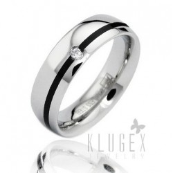 Stainless Steel Band Ring with CZ
