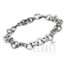 Stainless Steel Hear Link Bracelet