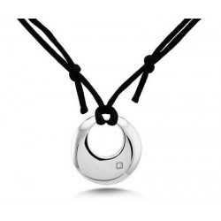 Stainless Steel Pendant w Black Cord