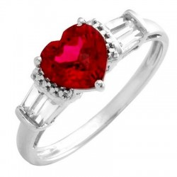 10K Gold Ring w Ruby Size 7