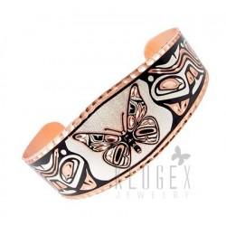 Handcrafted Copper Bracelet w Butterfly
